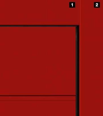 Одинаковый внешний вид и для ворот с цветным покрытием