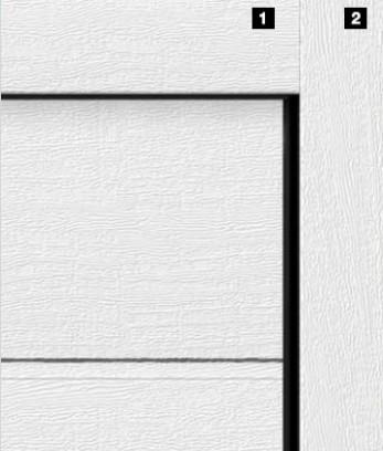 Одинаковый внешний вид направляющей и полотна ворот